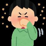 花粉症で鼻をこすっている男性の画像です。痒そうです。